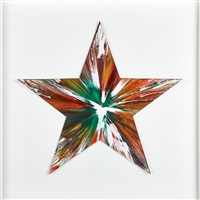 star spin painting (created at damien hirst spin workshop) by damien hirst