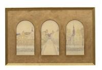 uppsalamotiv (triptych) by ernst nilsson
