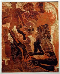 figures (from about the other bank) by josef vachal