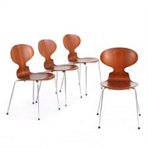 Ant Chair (set Of 4 Dining Chairs) By Arne Jacobsen
