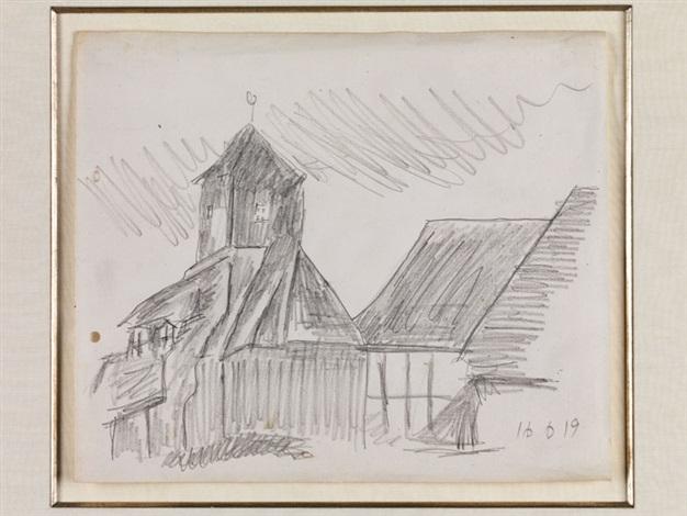 dorfkirche possendorf by lyonel feininger