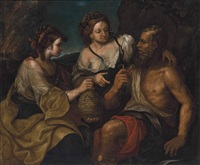 lot and his daughters by italian school-northern (17)