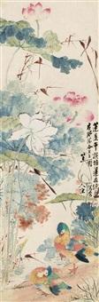 荷塘鸳鸯 by jiang yu