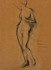 nude model by ludvig peter karsten