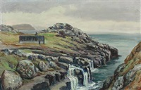 coastal scenery from the faroye islands by joen waagstein