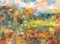 sommerliche landschaft by manfred henninger