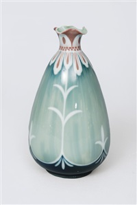 vase with floral decoration by laura kriesch