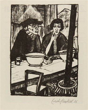 in der muschelstube ii by erich heckel