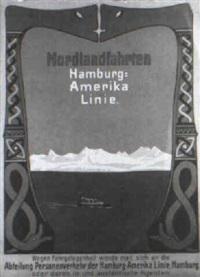 nordlandfahrten hamburg-amerika-linie by carl langhein