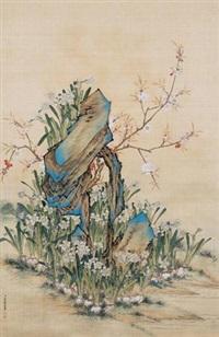 花石图 by liang derun