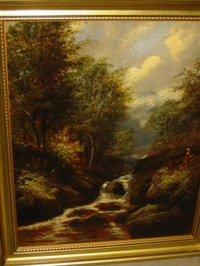 the barbadge brook, padley wood, derbyshire by joseph mellor