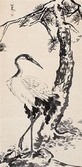 松鹤图 by bada shanren
