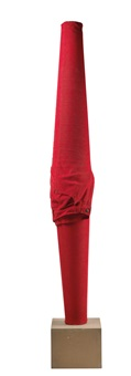 ohne titel (red trousers) by erwin wurm