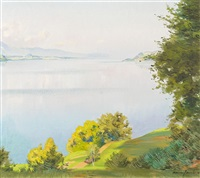 sommerliche landschaft am thunersee by marcus jacobi