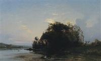 barbizan landscape by h. nason