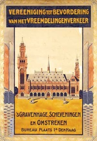 ver. tot bevordering van het vreemdelingenverkeer 's gravenhage, scheveningen (poster design) by dirk h. melk