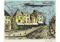 le village de marines by bernard buffet