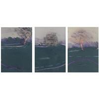 landscape 1985 #1, landscape 1985 #2 and landscape 1985 #3 (3 works) by ron pokrasso
