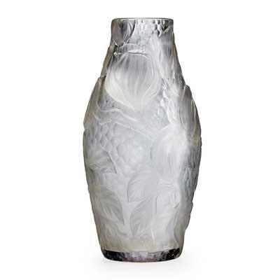 Fine Rock Crystal Vase With Magnolias By Tiffany Studios On Artnet