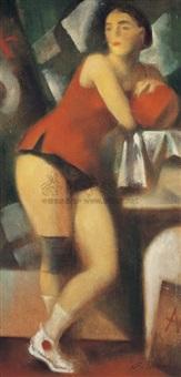 女运动员 纤维板 (woman athlete) by andrei andreevich mylnikov