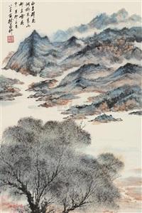 青山图 (landscape) by xu yanye