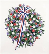 drawing for presidential wreath by keith edmier