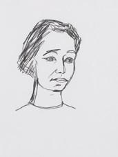 ohne titel (frauenkopf) (from sketchbk) by stephan balkenhol