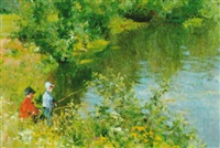 boys fishing by vladimir gusev