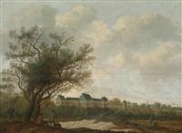 landschaft mit huis ter nieuwburch bei rijswijk by anthony jansz van der croos