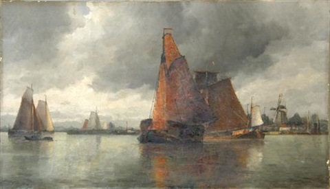 no1 near dordrecht holland by frederick james aldridge