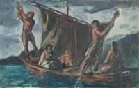 primi navigatori sul lago maggiore (studio) by silvio consadori