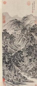 深山古寺 (temple on mountain) by wen boren