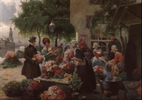 blumenmarkt by rudolf august hoeger