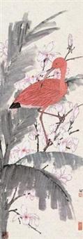 玉兰红鹤 by lei miao