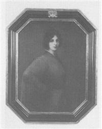 portrait einer jungen frau im roten kleid by anton hille