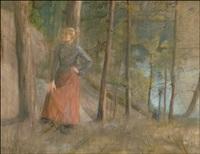 nainen metsässä - flicka i skogen by maria wiik