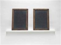 blackboard tableau #8 (edward) by vija celmins