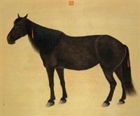 宫廷神骏图 设色绢本 by ai qimeng