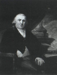 portrait of a gentleman in his study by cosmo alexander