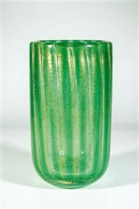 bedeutende vase ''sommerso a bollicine'' by carlo scarpa