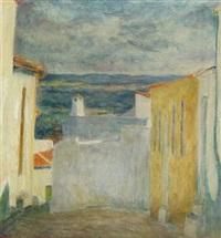 view through village street by sigurd swane