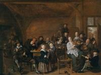 fröhliche gesellschaft in einer wirtsstube by jan miense molenaer
