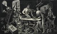 renaissance - noget raaddent i landet under genfødelsens blide veer, surrealistic scene by thomas arnel