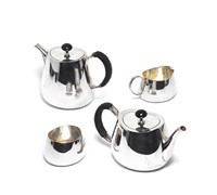 tea service - pride pattern (set of 4) by david mellor