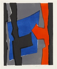 komposition (farblithographie 29) by fritz winter