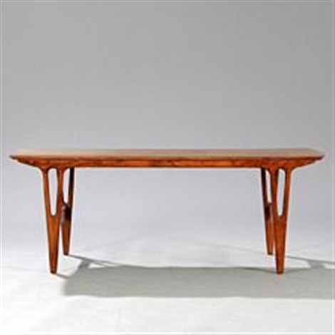 Rectangular Coffee Table Of Brazilian Rosewood With Y Shaped Legs By Erling Torvits
