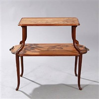 art nouveau two-tier table by louis majorelle