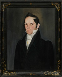 portrait of hiram augusta adams by sheldon peck