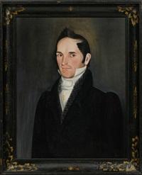 portrait of hiram augusta adams by sheldon peck