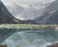sommerliche ansicht eines bergsees by alois pfund